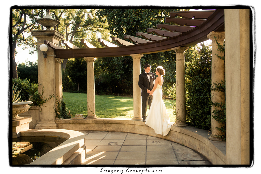 Bride And Groom In Gardens Kimberly Crest House Gardens